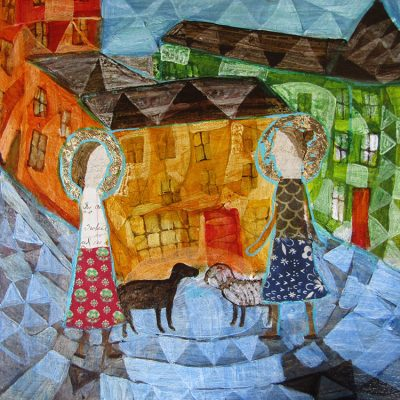 Donald Saaf Two Women With Dogs