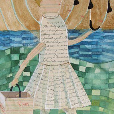 Donald Saaf Woman with an Umbrella