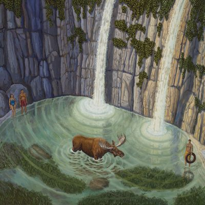 Bruce Ackerson Moose in the Water